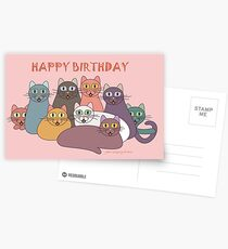 HAPPY BIRTHDAY by NINE CATS  Postcards