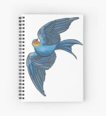 Swift Blue Bird (Orignal Artwork) Spiral Notebook
