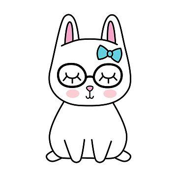 Nerd bunny by Twoandthree