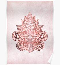Rose Gold Lotus Poster