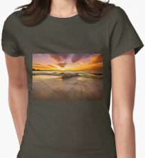A Fiery Night... Womens Fitted T-Shirt
