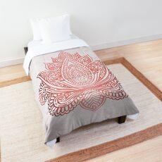 Rose Gold Lotus Tagesdecke