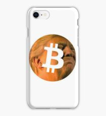 Trump and Bitcoin together at last  iPhone Case/Skin