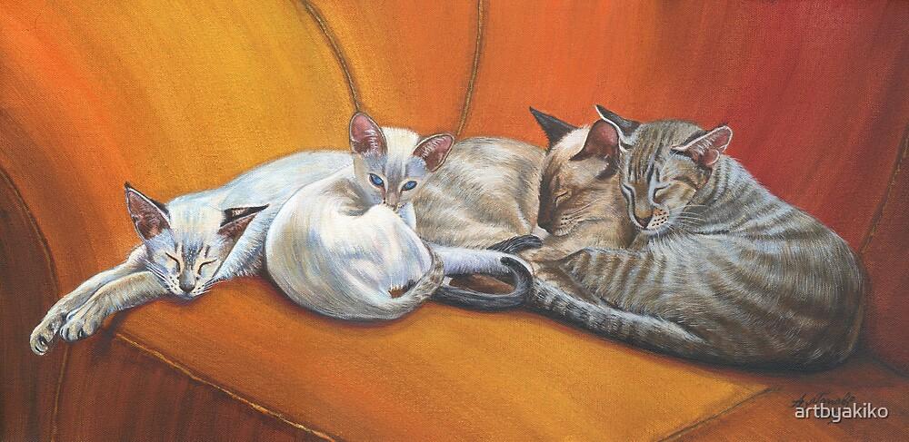 Family Nap #1 by artbyakiko
