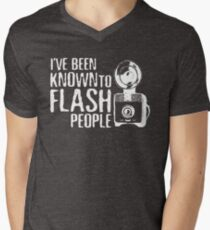 I've Been Known To Flash People Men's V-Neck T-Shirt