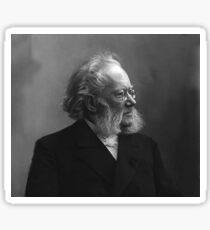 Henrik Ibsen - black and white Sticker
