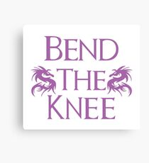 Bend The Knee Two Dragon Purple Game of Thrones fan Canvas Print