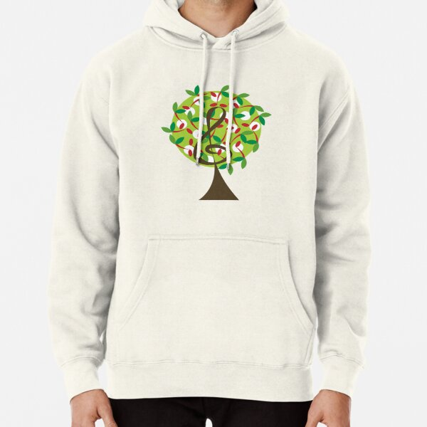 Musical Cherry Notes Tree Pullover Hoodie