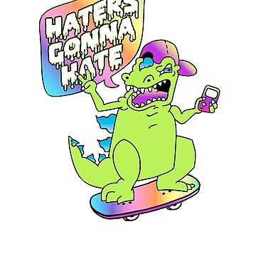 """Haters Gonna Hate"" Reptar (white) by amygrace"