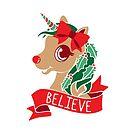 Believe - Unicorn Rudolph by Amy Grace