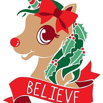 Believe - Unicorn Rudolph by amygrace