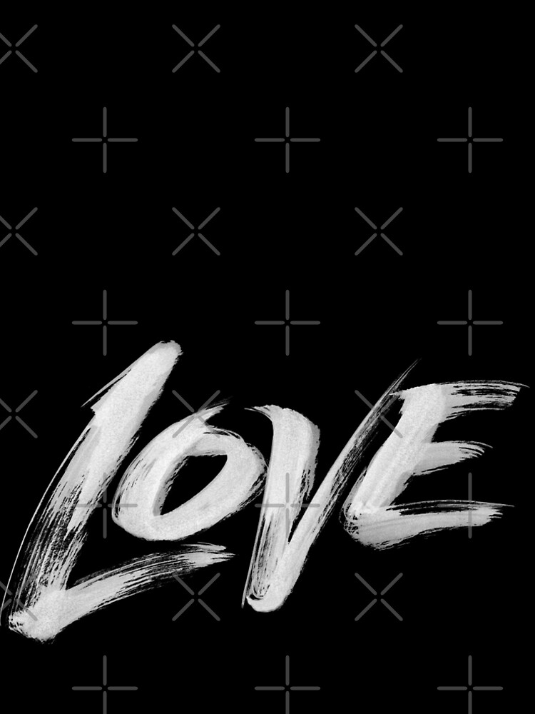 Zen Brush Love Word - Lettering - White Calligraphy  by 26-Characters
