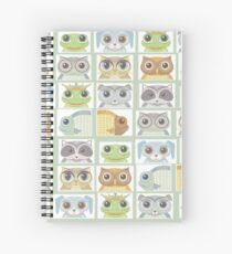 Portraits Of Animal Friends Spiral Notebook