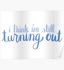 Turning Out Outline - Blue Poster