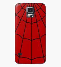 Spider Web - Red Case/Skin for Samsung Galaxy