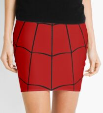 Spider Web - Red Mini Skirt