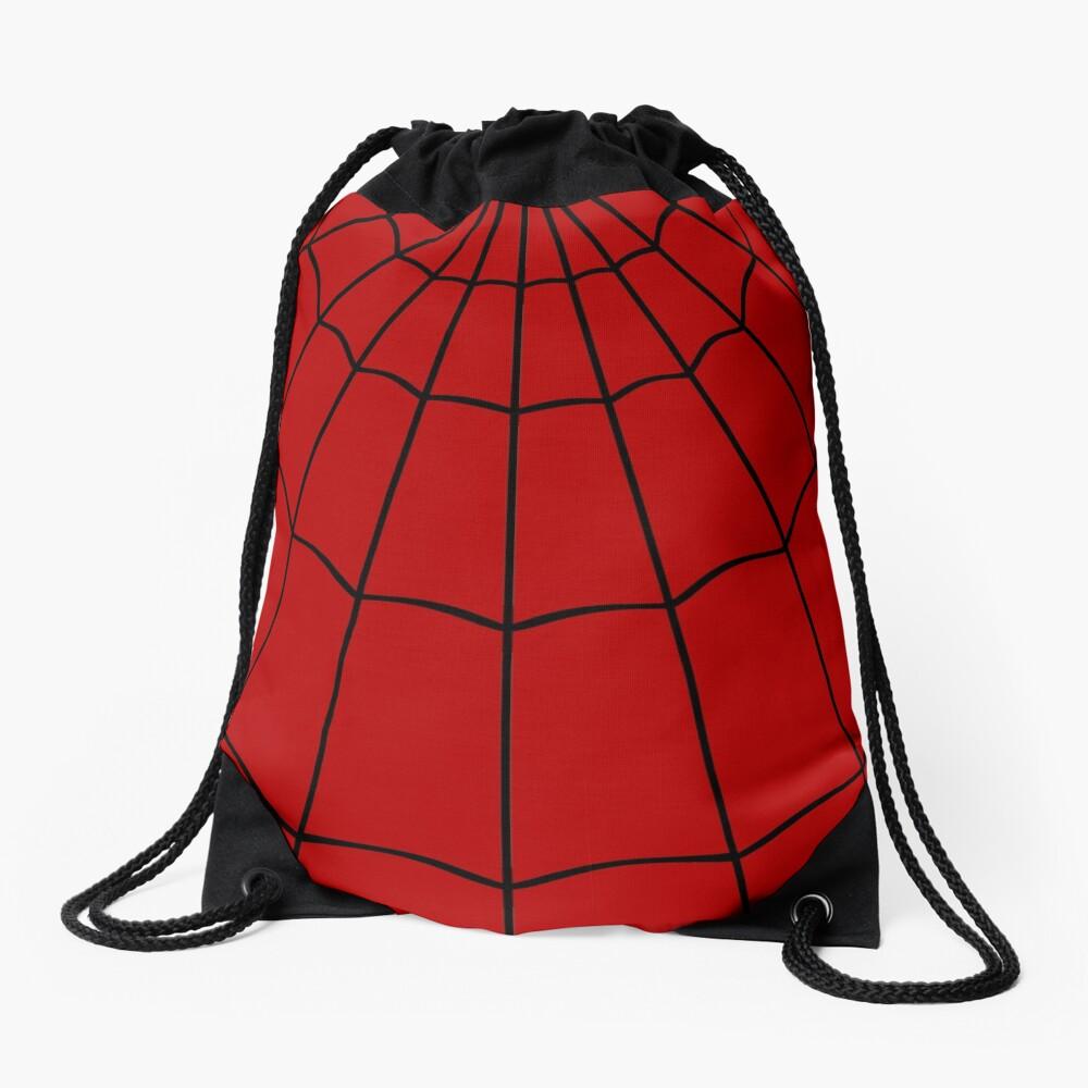 Spider Web - Red Drawstring Bag