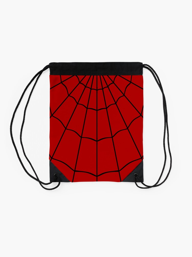 Alternate view of Spider Web - Red Drawstring Bag