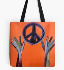 Reaching for Peace Tote Bag