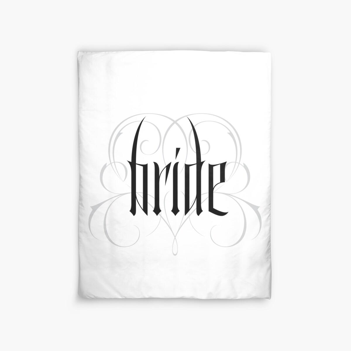 Gothic Braut Hand Schriftzug - moderne Vampir Tattoo Goth Hochzeit ...