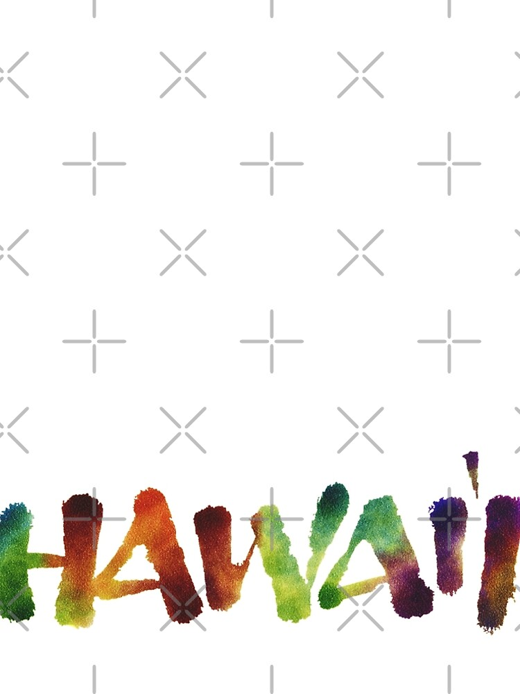 Hawai'i Lettering Calligraphy in tropical colors - Hawaii by 26-Characters