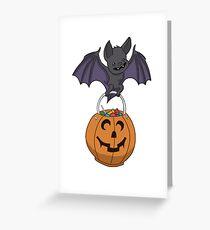 Trick or Treat Bat Greeting Card
