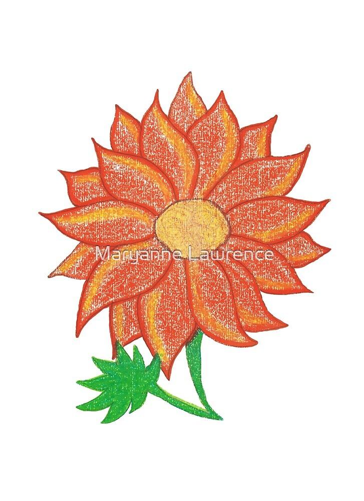 Orange Flower by Maryanne Lawrence
