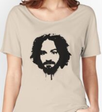 Charles Manson Stencil Women's Relaxed Fit T-Shirt