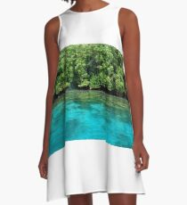 Bougainville Shoreline A-Line Dress