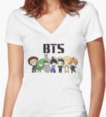 BTS 21st Century Girls (Halloween ver.)  Women's Fitted V-Neck T-Shirt