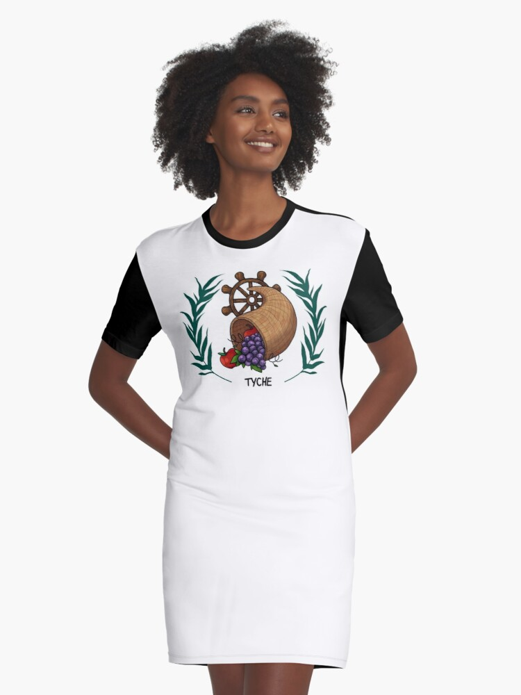 Tyche Inspired Cabin Symbol Graphic T Shirt Dress By