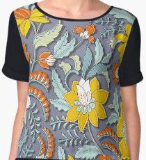 Elegant & Intricate Floral Pattern Women's Chiffon Top