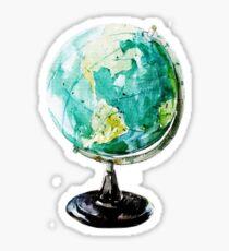 Aquarell Globus Welt Sticker