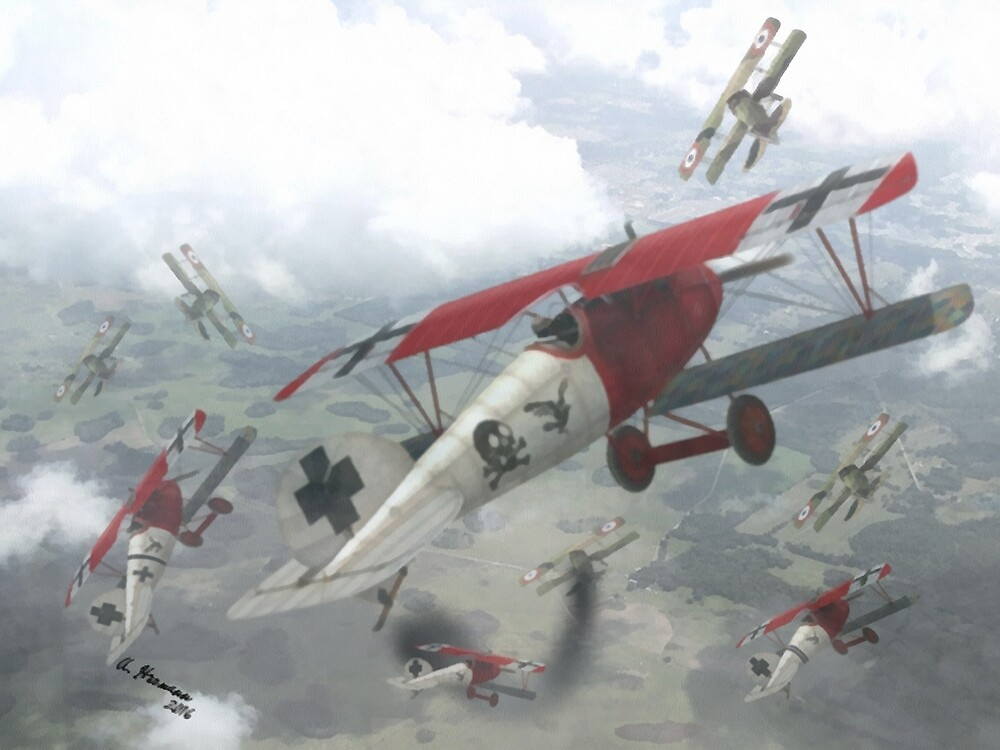WW I Air Combat 7 by AH-Aviation-Art