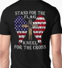 STAND FOR THE FLAG KNEEL FOR THE CROSS Unisex T-Shirt