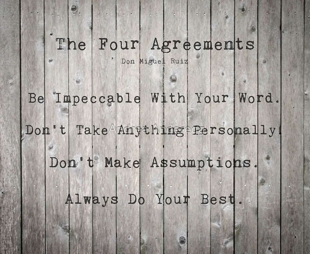 The Four Agreements by andreaanderegg