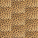 Cheetah Print Brown And Black Spots by EllenDaisyShop