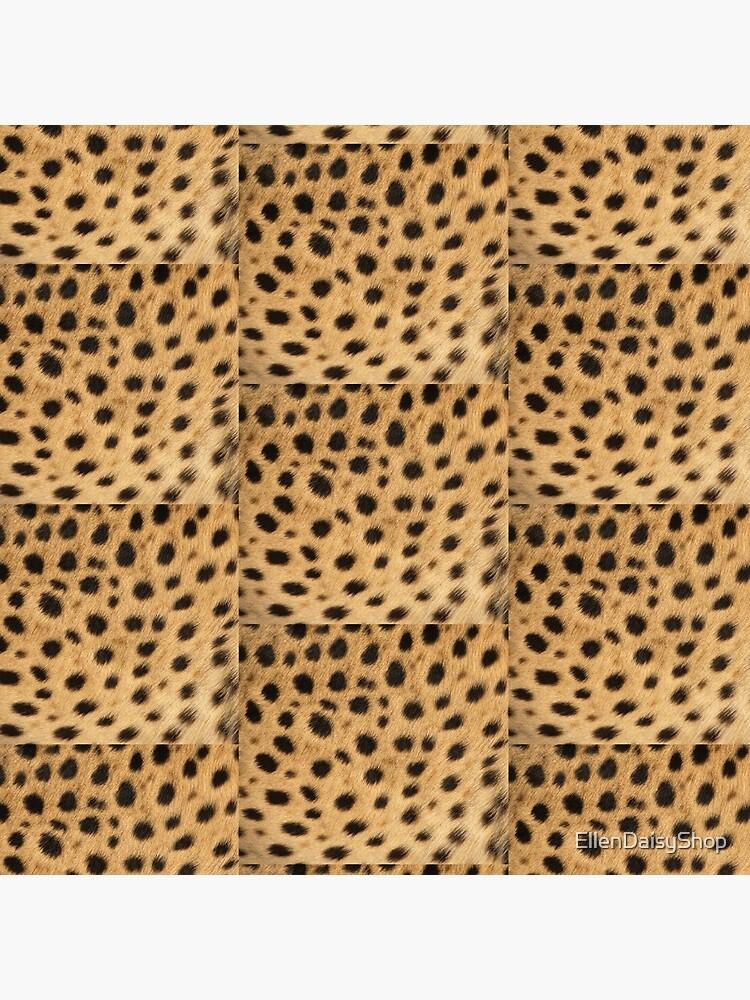 Cheetah Print Brown And Black Spots by EllenDaisyShop