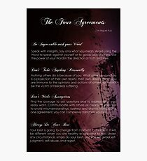 The Four Agreements Abstract Painting background Photographic Print