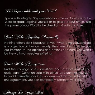 The Four Agreements Abstract Painting background by andreaanderegg