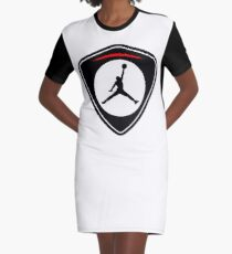 gold jordan logo Graphic T-Shirt Dress