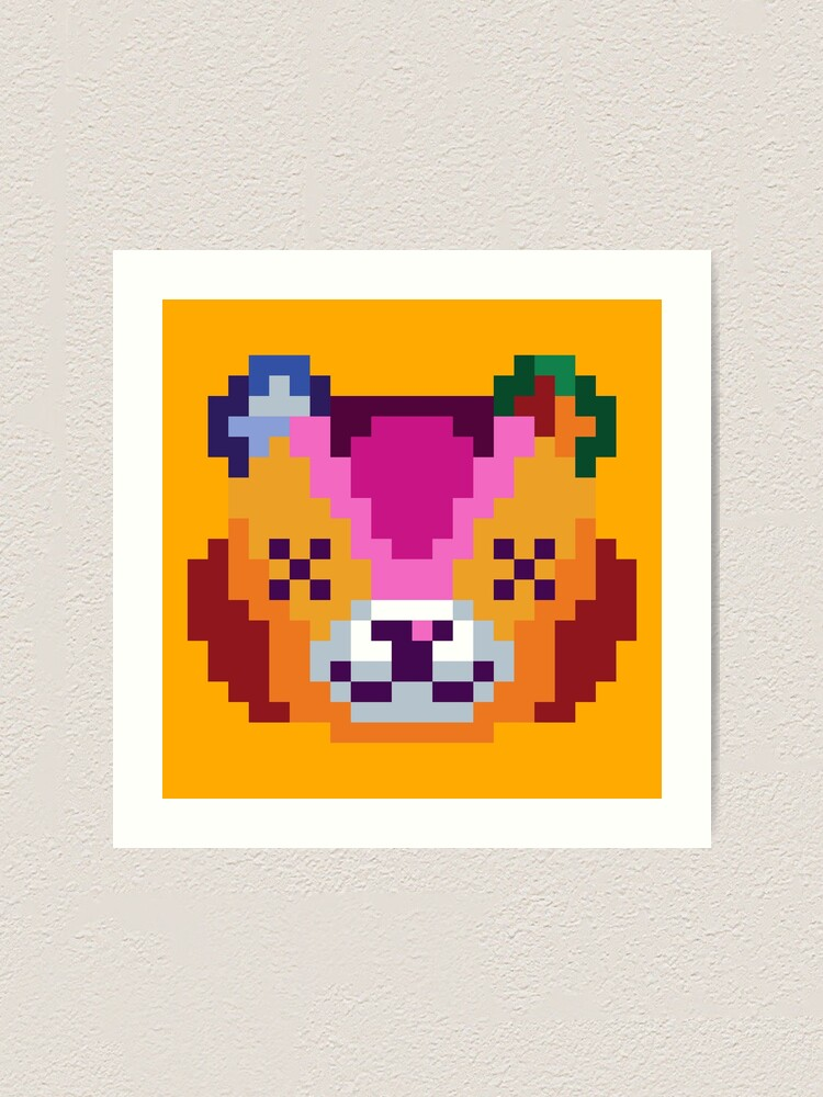 8 bit animal crossing leaf pixel art