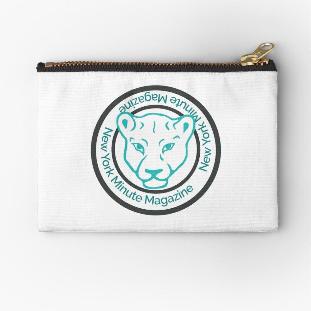 Blue Lioness Emblem Zipper Pouch