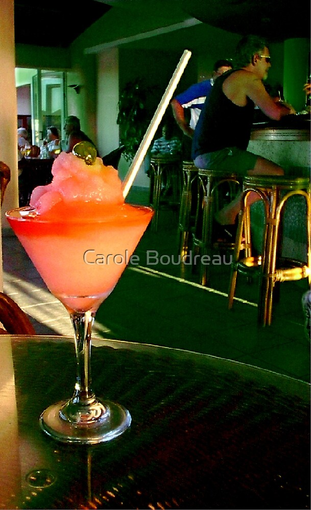 Tropical Cool Drink by Carole Boudreau