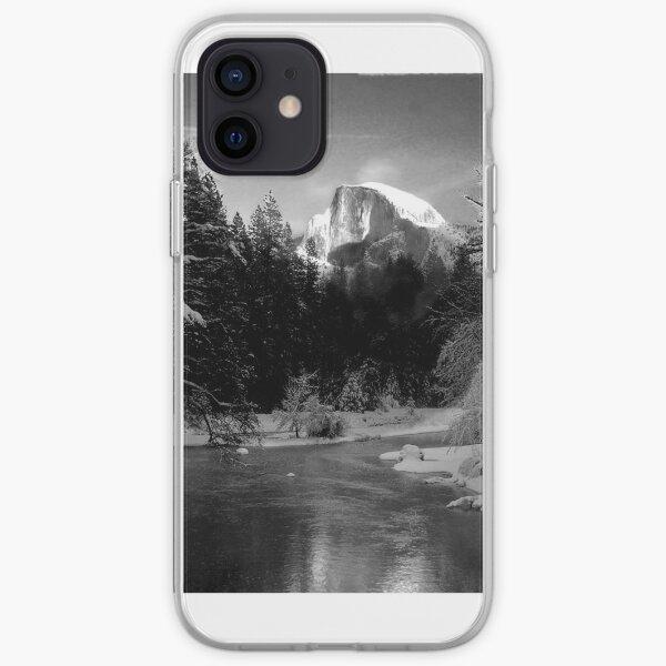 Half-Dome in Yosemite - a tribute to Ansel Adams iPhone Soft Case