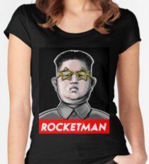Rocketman Donald Trump Kim Jong-Un Rocket Man T Shirt Women's Fitted Scoop T-Shirt