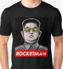 Rocketman Donald Trump Kim Jong-Un Rocket Man T Shirt Unisex T-Shirt