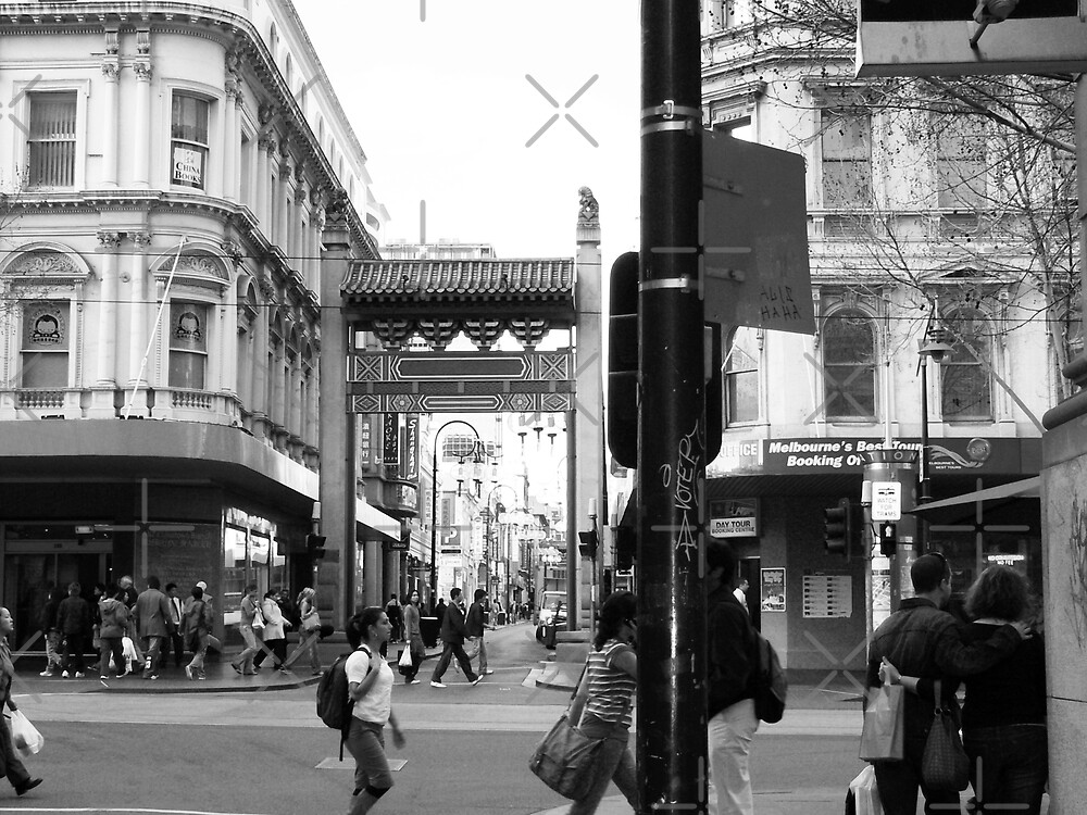 Heading into China Town - Melbourne by Sandra Chung