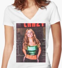 BRITNEY CRAZY Women's Fitted V-Neck T-Shirt