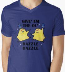 Razzle Dazzle Birdblobs Men's V-Neck T-Shirt